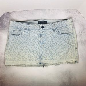 Guess Jeans Mini Skirt Distressed Light Wash